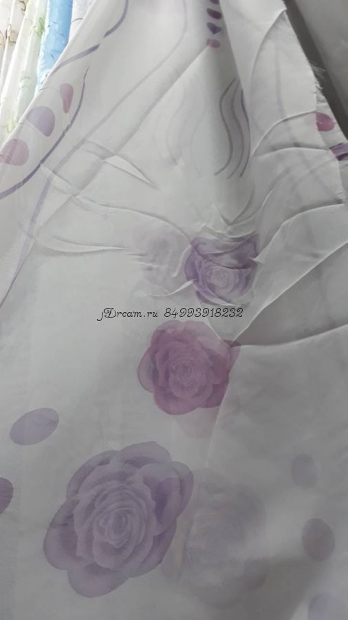 Вуаль печатная Розы