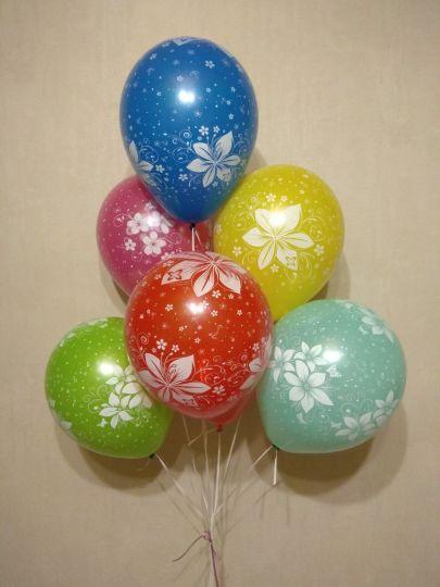 Цветочный Орнамент латексные шары с гелием