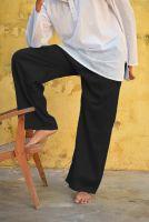 Чёрные прямые мужские штаны для йоги из хлопка, купить в Москве