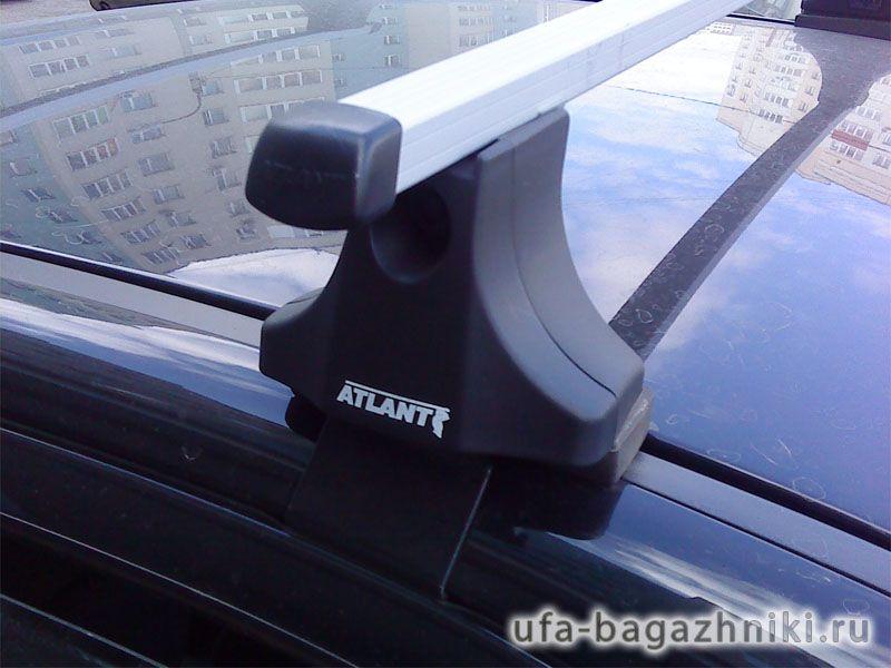 Багажник на крышу Mitsubishi Lancer 10 sedan/hatchback, Атлант, прямоугольные дуги