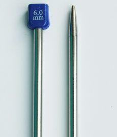 Спицы длинные металические 35 см № 6