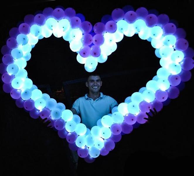 Светящиеся сердце