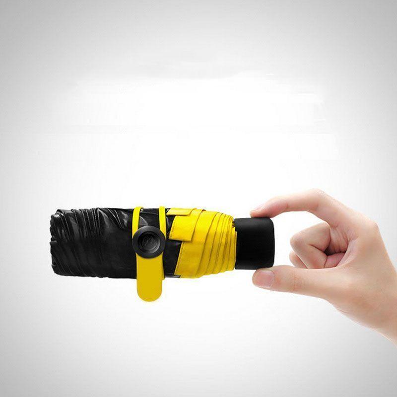 Карманный зонтик Mini Pocket Umbrella (Желтый)