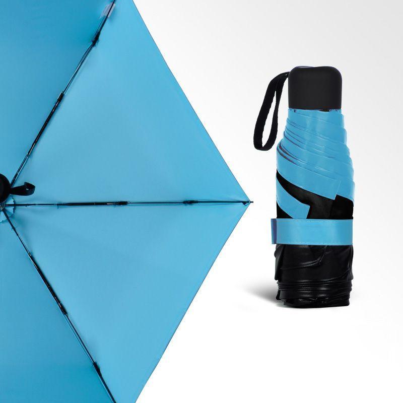 Карманный зонтик Mini Pocket Umbrella (Голубой)