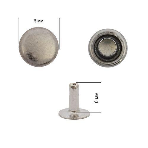 Хольнитены №0 6*6 мм, цвет: т.никель NewStar