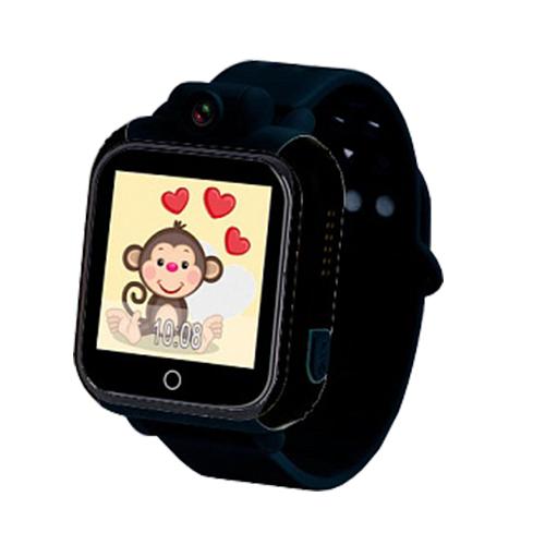 Умные детские часы с GPS GW1000 (G75) (черный)