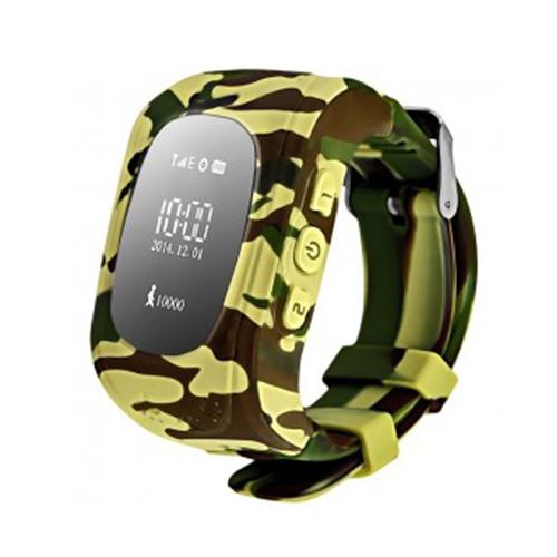 Умные детские часы с GPS Smart Baby Watch Q50 (хаки)