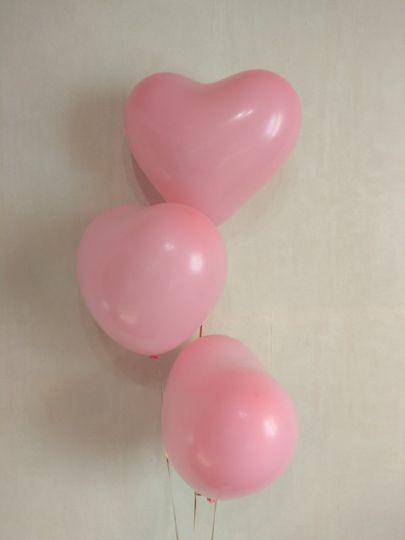Шар-сердце розовый латексные шары с гелием