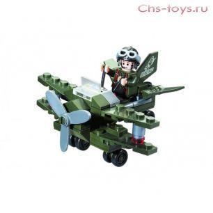 Конструктор Brick Военный самолет 50 дет