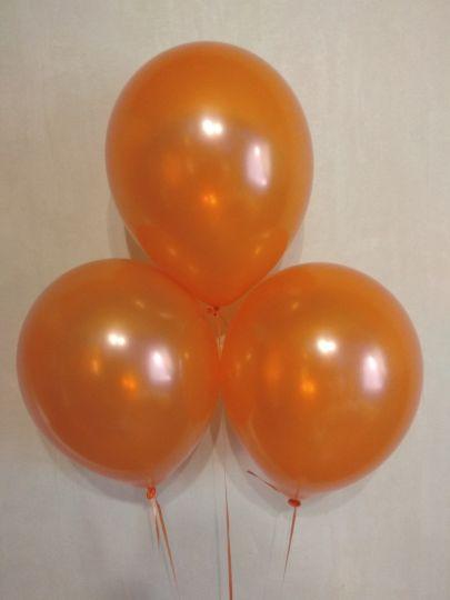 Оранжевый металлик шар с гелием