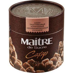 Сахар Maitre de Sucre кусковой тростниковый 270гр