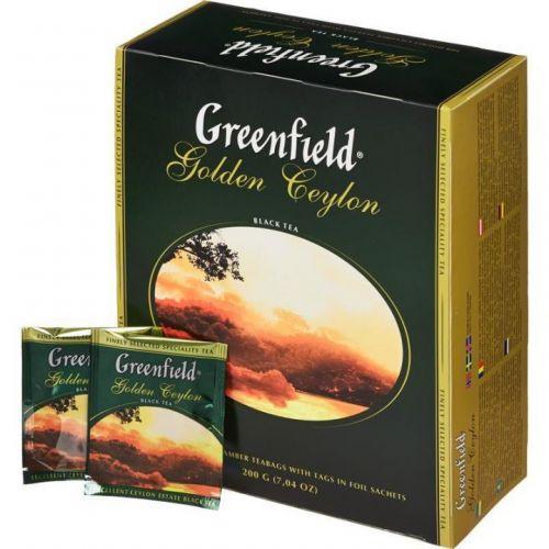 Чай Greenfield Golden Ceylon черный 100 пак