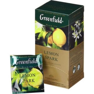 Чай Greenfield Lemon Spark черный с лимоном 25 пак