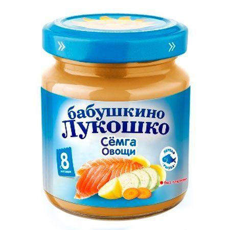 Бабушкино лукошко Рагу из семги с овощами пюре с 8 мес., 100 г