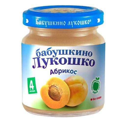 Бабушкино лукошко Пюре Абрикос с 4 мес., 100 г