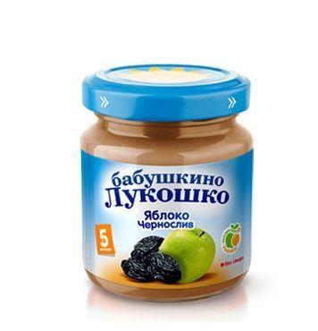 Бабушкино лукошко Пюре яблоко с черносливом с 5 мес. 100 г