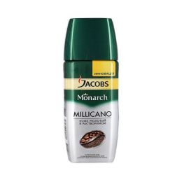 Кофе Jacobs Monarch 95гр растворимый Millicano с молотым кофе (стекло)