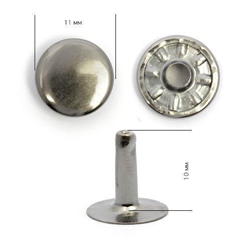 Хольнитены №123 Тёмный никель Сталь NewStar 11х10 (10мм)