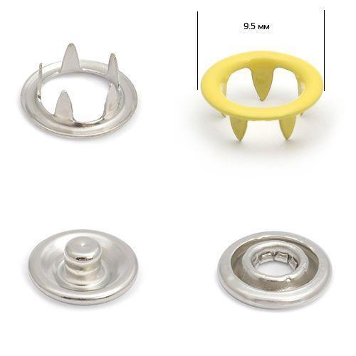 Кнопка трикотажная №350 (кольцо) цв.желтый светлый нерж 9,5мм эмаль NewStar