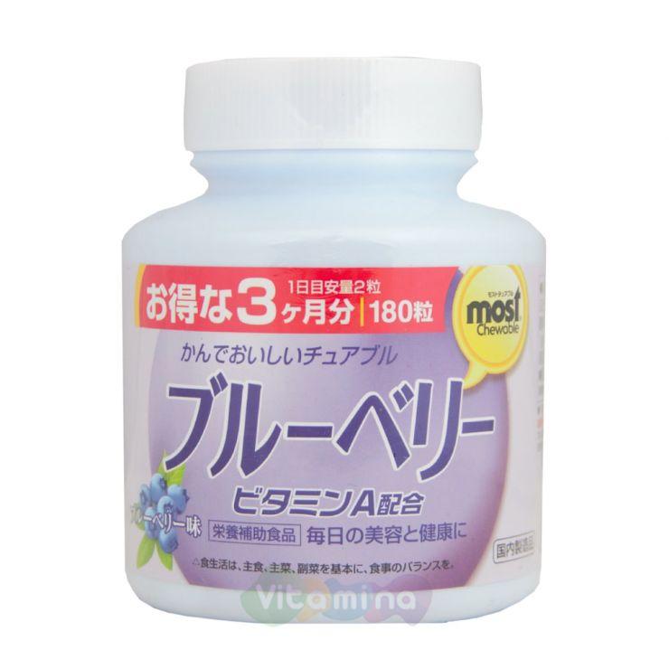 Orihiro Черника жевательные витамины, 180 табл.