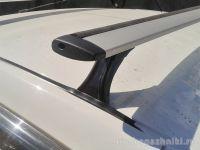 Багажник на крышу на Datsun Mi-Do, Delta, аэродинамические (крыловидные) дуги