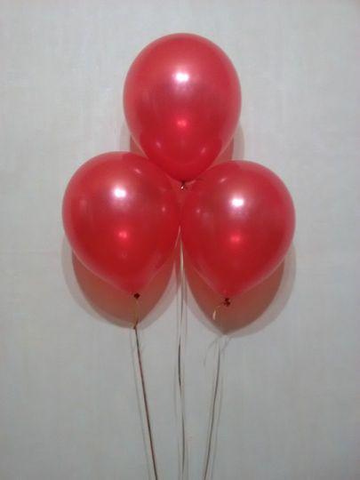 Красный металлик шар с гелием