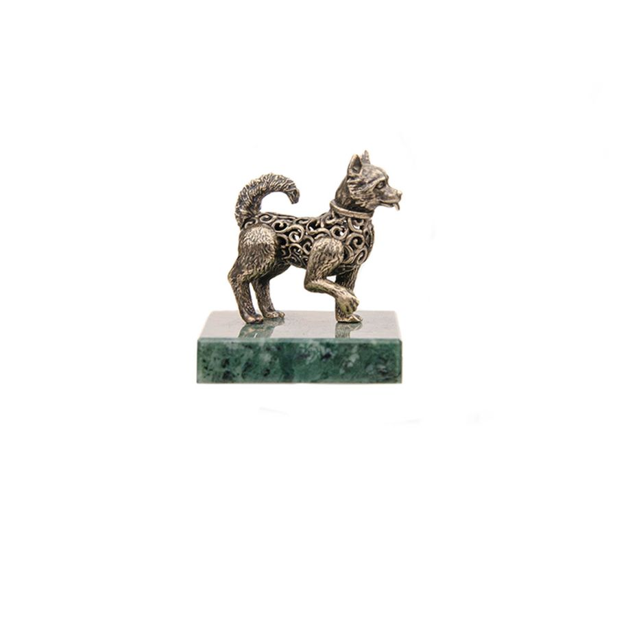 """Статуэтка """"Ажурная собака"""" на подставке"""