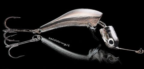 Джигвоблер Wake Jigwobbler 50, 5 см, 8 гр, #Black Silver