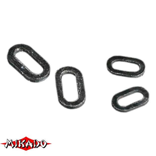 Кольцо Mikado овальной формы 4.5 мм. (черный) уп.=25 шт., упак