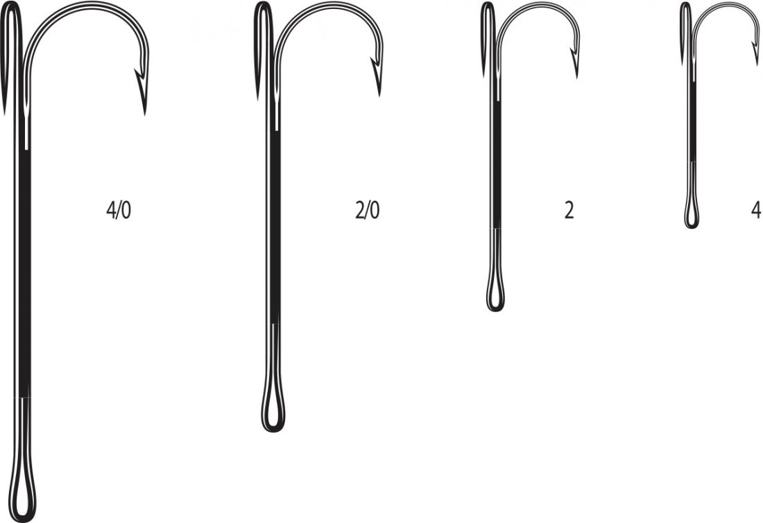 Двойники Cannelle 2020 К № 2/0 уп.10 шт. (черный никель, удлиненное цевье,спаянный)