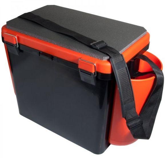 """Ящик зимний Helios """"FishBox"""", односекционный 19 л, оранжевый"""