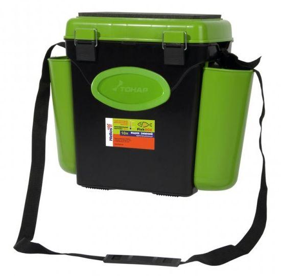 """Ящик зимний Helios """"FishBox"""", односекционный 10 л, зеленый"""