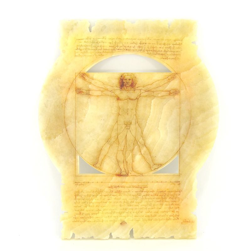 """Репродукция рисунка Леонардо да Винчи """"Витрувианский человек"""""""