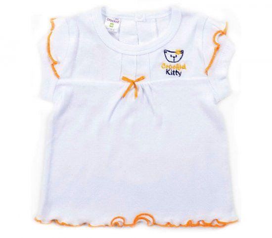 Белая блуза для девочки Kitty