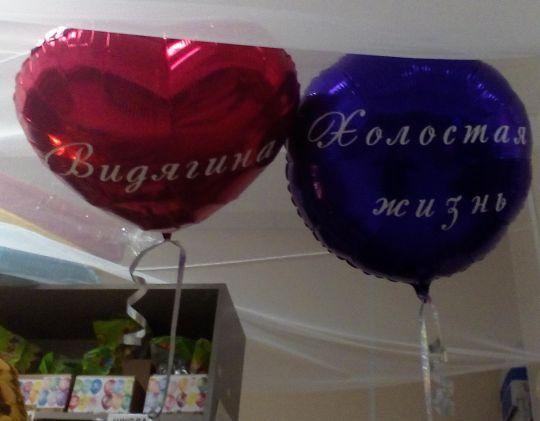 Прощание с фамилией и холостяцкой жизнью из 2 шаров 45 см