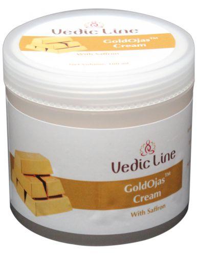Крем для лица Аура Золота | с экстрактом шафрана и золотой пудрой | 100 мл | Vedic Line