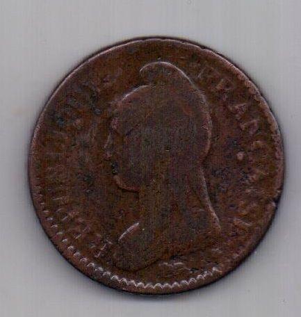Десим - 10 сантим LAN 8 -1799 г. Мец. Франция