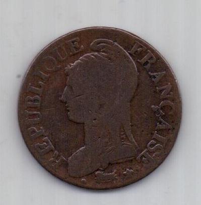 5 сантим LAN 8 -1799 г. Франция