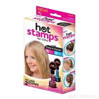 Штампы для нанесения рисунка на волосы Hot Stamps, 2 шт