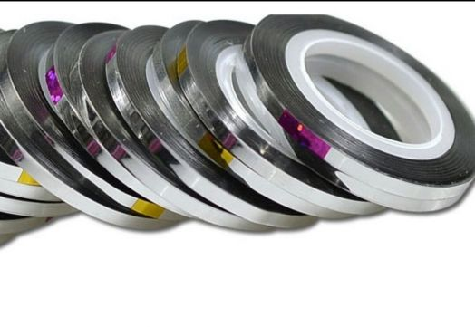 Лента для дизайна широкая 3 мм серебро