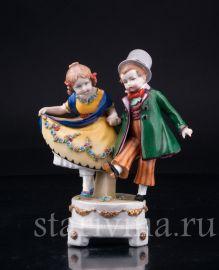 Танцующие дети, E & A Muller, Германия,1890 - 1927 гг