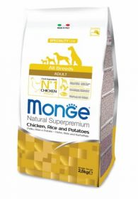 Monge Dog Speciality корм для собак всех пород курица с рисом и картофелем 2,5 кг