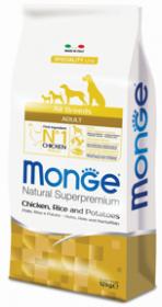 Monge Dog Speciality корм для собак всех пород курица с рисом и картофелем 12 кг