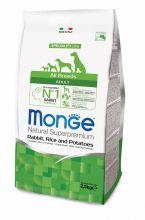Monge Dog Speciality корм для собак всех пород кролик с рисом и картофелем 2,5 кг