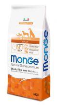 Monge Dog Speciality корм для собак всех пород утка с рисом и картофелем 12 кг