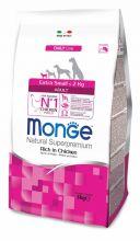 Monge Dog Extra Small корм для взрослых собак миниатюрных пород с курицей 3 кг