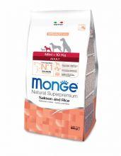 Monge Dog Speciality Mini корм для взрослых собак мелких пород лосось с рисом 2,5 кг