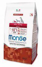 Monge Dog Speciality Mini корм для взрослых собак мелких пород ягненок с рисом и картофелем 2,5 кг