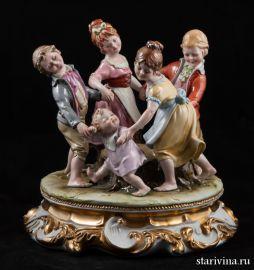 Танцующие дети. Capodimonte, Италия., артикул 00345