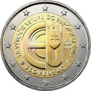 Словакия 2 евро 2014 10 лет в Евросоюзе UNC